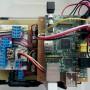 ラズベリーパイと自作回路で作成した、ゲートドア電磁錠のタイマーコントロールシステムの画像