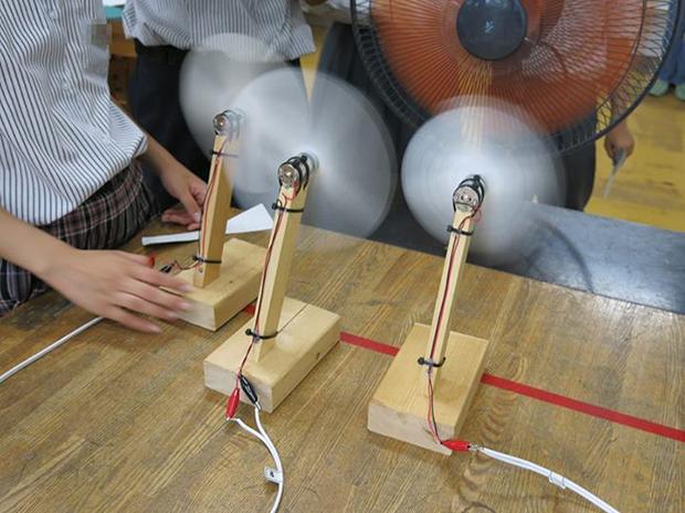 「でんまね」風力発電コンテスト、自作CAD「立体グリグリ」の画像