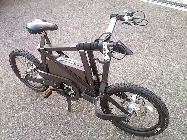 ぼくのかんがえたさいきょうのカーボン+ハブステア+電動自転車の画像