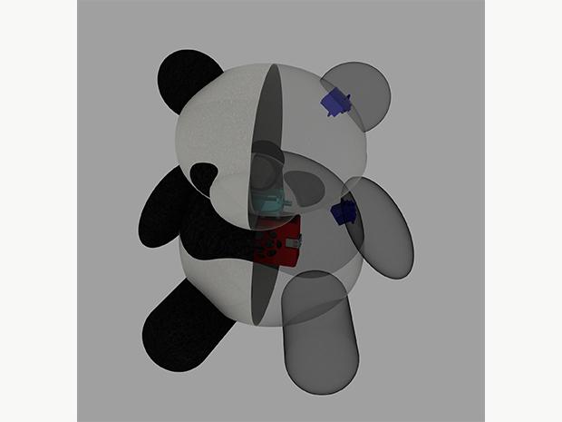 パンダ型ライフログロボットの画像
