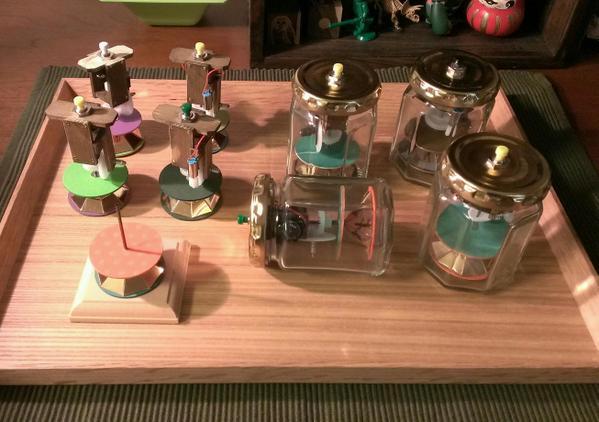 シカクガング「瓶詰あにめ」新作の展示と販売の画像