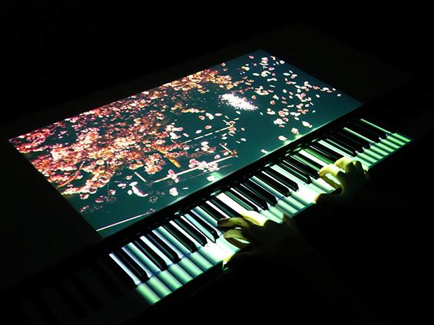 ピアノ・インタラクティブ・プロジェクションの画像