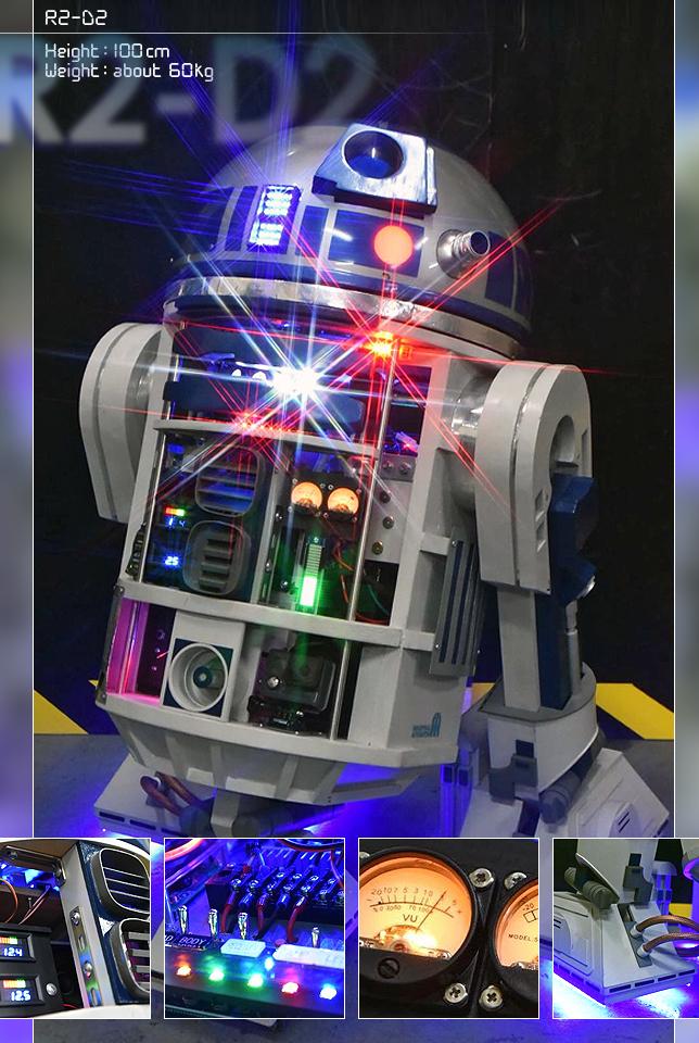 実物大・ラジコン木製R2-D2