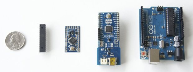 A variety of different Arduino sizes and form factors