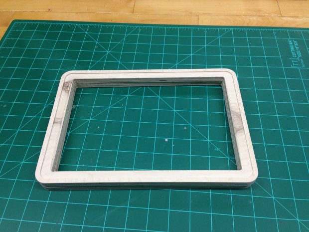 It took a bit of sanding to get the LCD to fit correctly.