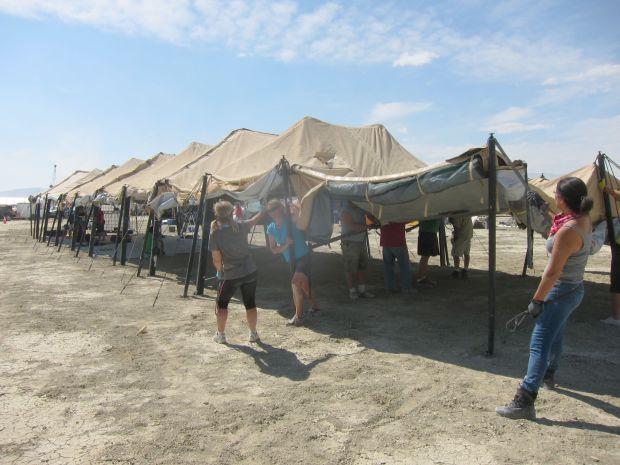 Theme camp tent erection: 3 p.m.