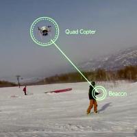スノーボーダー自動追尾空撮ドローン