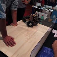 自走式CNC、3Dプリントされたダフトパンクのヘルメットなど / Maker FaireRome2014