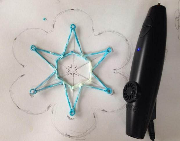 It doesn't look like it now but that six-pointed star will eventually become airborne.