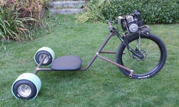 ratrod Allans Motorized Rat Rod Drift Trike