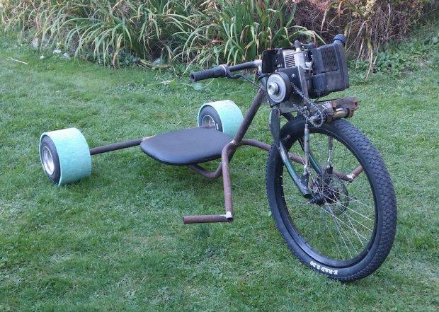 ratrod2 Allans Motorized Rat Rod Drift Trike