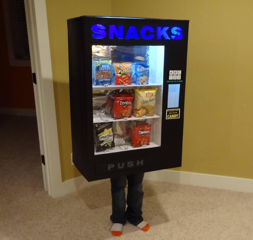 vending machine costume 1 Kid Dresses Up as a Vending Machine and Other Inanimate Objects Every Year for Halloween