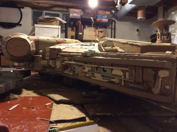 2qh3lcc imgur Star Wars Fan Creates Insanely Detailed Cardboard Millennium Falcon