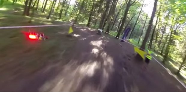 If you thought just flying a drone was challenging, try racing them through a wooded area