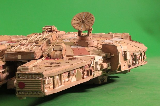 eud7lig imgur Star Wars Fan Creates Insanely Detailed Cardboard Millennium Falcon