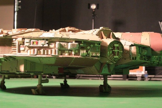 plkd9k6 imgur Star Wars Fan Creates Insanely Detailed Cardboard Millennium Falcon