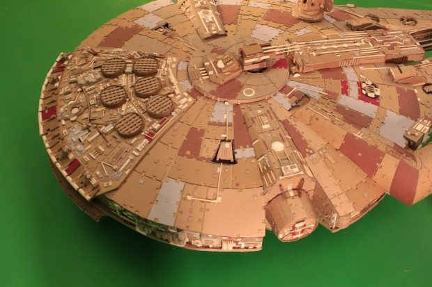 rtgdgvm imgur Star Wars Fan Creates Insanely Detailed Cardboard Millennium Falcon