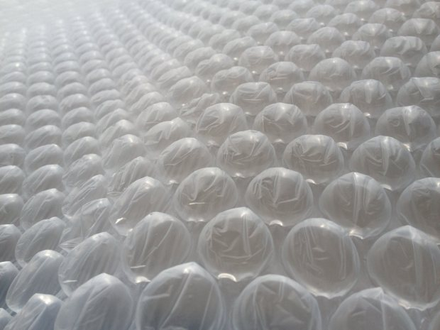 Those air pockets on Bubble Wrap were actually formed using a perforated vacuum