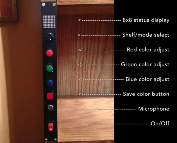 shelf2 A Sound Reactive RGB LED Bookshelf
