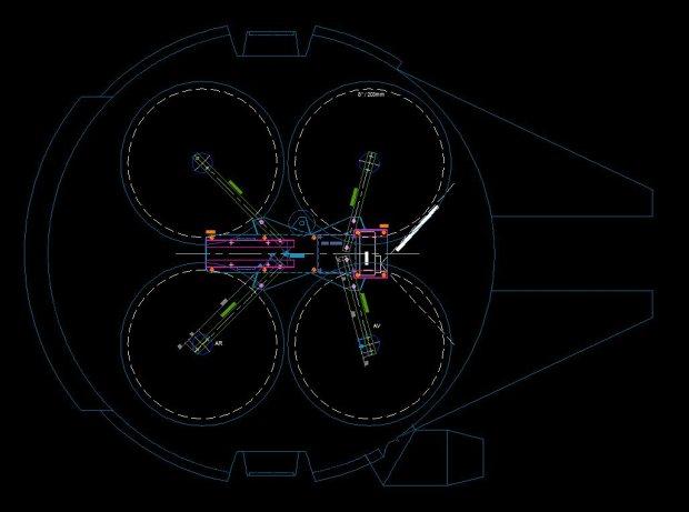 m335 00 Transform a Quadcopter Into a Flying Millennium Falcon
