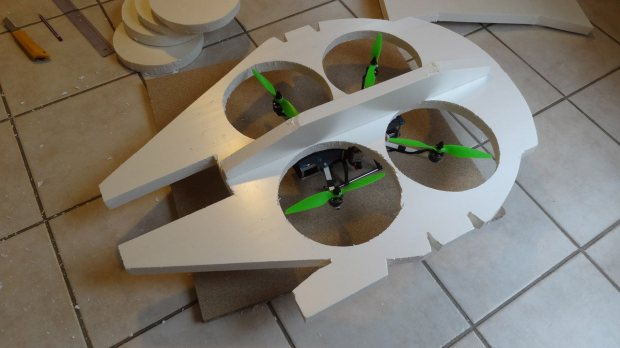 m335 06 Transform a Quadcopter Into a Flying Millennium Falcon