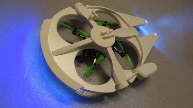 m335 37 Transform a Quadcopter Into a Flying Millennium Falcon