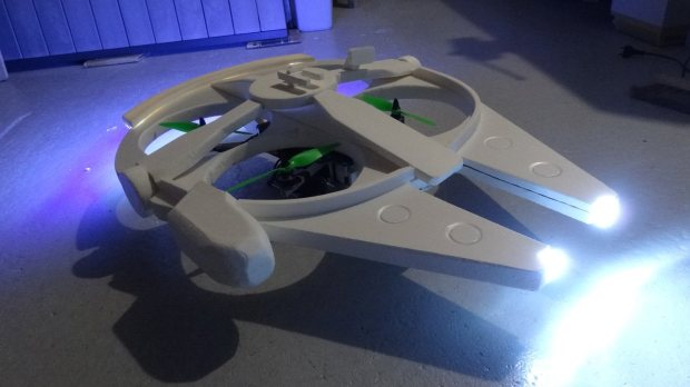 m335 41 Transform a Quadcopter Into a Flying Millennium Falcon