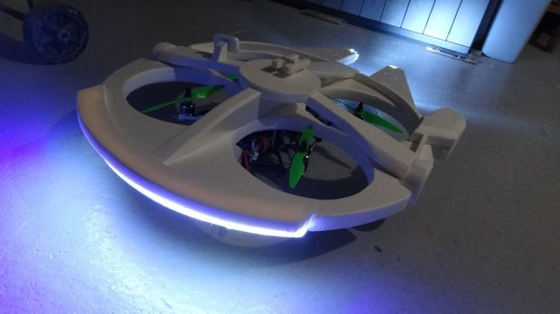 m335 42 Transform a Quadcopter Into a Flying Millennium Falcon