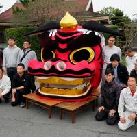 空撮ドローンで巨大神具をスキャン。掛川の高校生とCode forKakegawaが挑む、まちの文化の守りかた