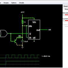 ウェブベースの回路シミュレーター