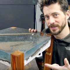 エポキシで海のテーブルを作る