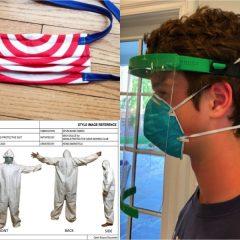 手指消毒液、マスク、フェイスシールド、防護服、感染予防フックなど、COVID-19対策として今すぐ作れるものリスト